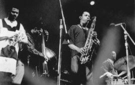 Art Blakey and The Jazz Messengers s Janem Arnetem na New Port Jazz Festivalu v roce 1969