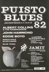 Plakát finského hudebního festivalu Puisto Blues '82
