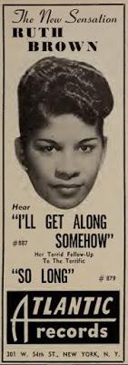 Reklama z počátků kariéry v říjnu 1949