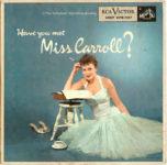 Barbara Carroll Trio: Have You Met Miss Carroll? (1956, RCA Victor Records)