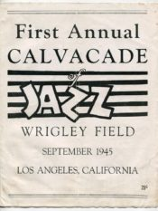 Titulní strana programu 1. ročníku festivalu Cavalcade of Jazz