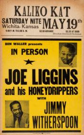 Plakát na vystoupení Joea Ligginse v sobotu 19. května 1951 ve Wichitě