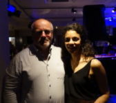 Anoushka Lucas s panem editorem @ Pizza Express Live, Birmingham, West Midlands, 3.5.2019 © Radek Plichta / cernejpudink.cz