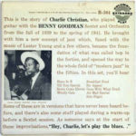 Charlie Christian With The Benny Goodman Sextet And Orchestra (1955, Columbia Records)