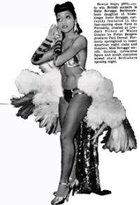 """Inzerát zvoucí na divadelní představení v Prince of Wales Theatre, v němž vystupuje Leazar """"Baby"""" Scruggs, dcera Irene Scruggs"""