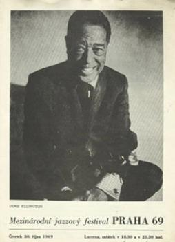 Duke Ellington na titulní stránce programu vydaném v rámci jeho vystoupení 30. října 1969 na Mezinárodním jazzovém festivalu v Praze