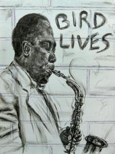 Již několik hodin po oznámení Parkerova úmrtí se na zdech začaly objevovat nápisy a grafiky BIRD LIVES