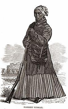 Dřevorytina s podobiznou Harriet Tubman z období Občanské války