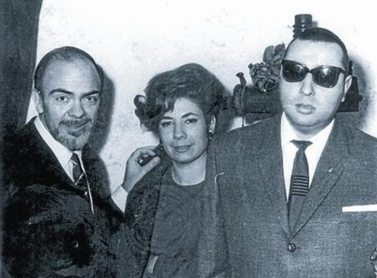Zleva producent Albert Mallofré, zpěvačka Núria Feliu a pianista Tete Montoliu