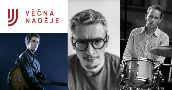 Trio David Dorůžka (kytara), Robert Fischmann (flétna) a Martin Novák (bicí)