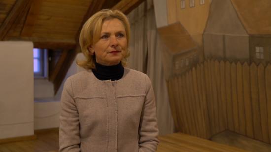Z natáčení dokumentu Terezínští autoři, Dr. Ing. Martina Jankovská