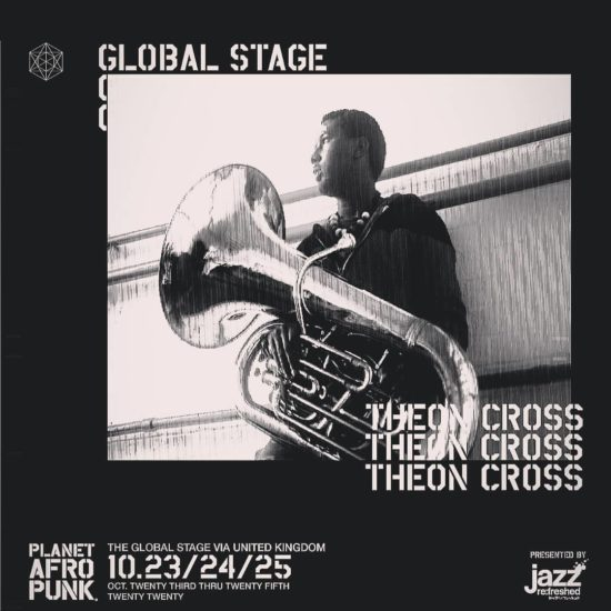 Plakát na sérii koncertních vystoupení tubisty Theona Crosse